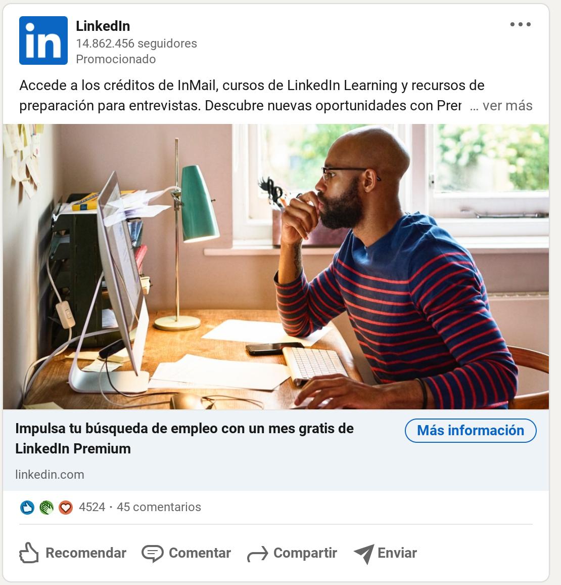Ejemplo de Linkedin Ads